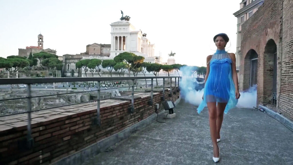 Emuleos Fashion show at Phygital Sustainability Expo in Rome